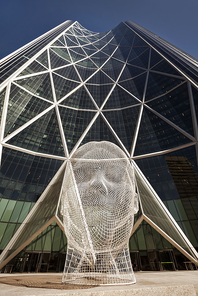 Sculpture And Bow Building; Calgary, Alberta, Canada
