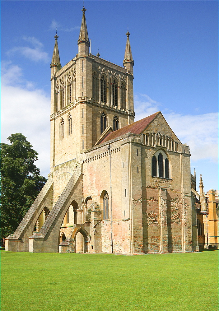 The Abbey Church, Pershore, Worcestershire, England, United Kingdom, Europe - 1121-17