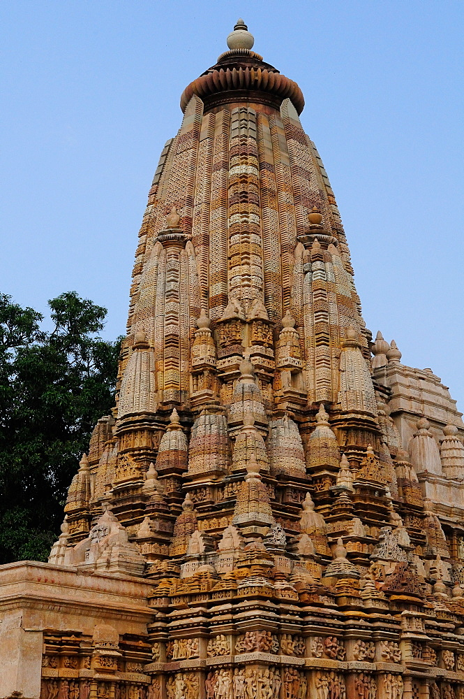 Parshwanath Temple, a Jain temple, Khajuraho, UNESCO World Heritage Site, Madhya Pradesh, India, Asia - 1125-138
