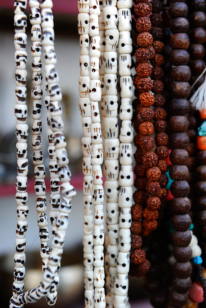 Buddhist prayer beads, Dharamsala, Himachal Pradesh, India, Asia