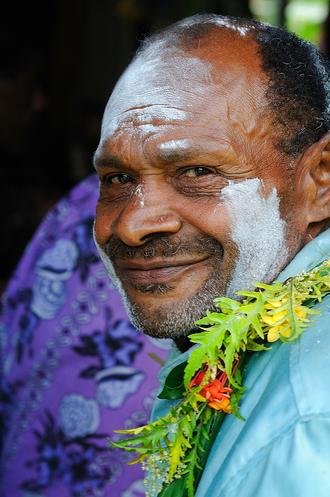 A Fijian getting ready for the traditional Kava Ceremony, Sitka, Fiji, South Pacific, Pacific