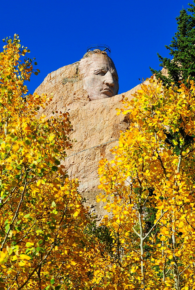 Crazy Horse Memorial mountain carving, South Dakota, United States of America, North America  - 1125-89