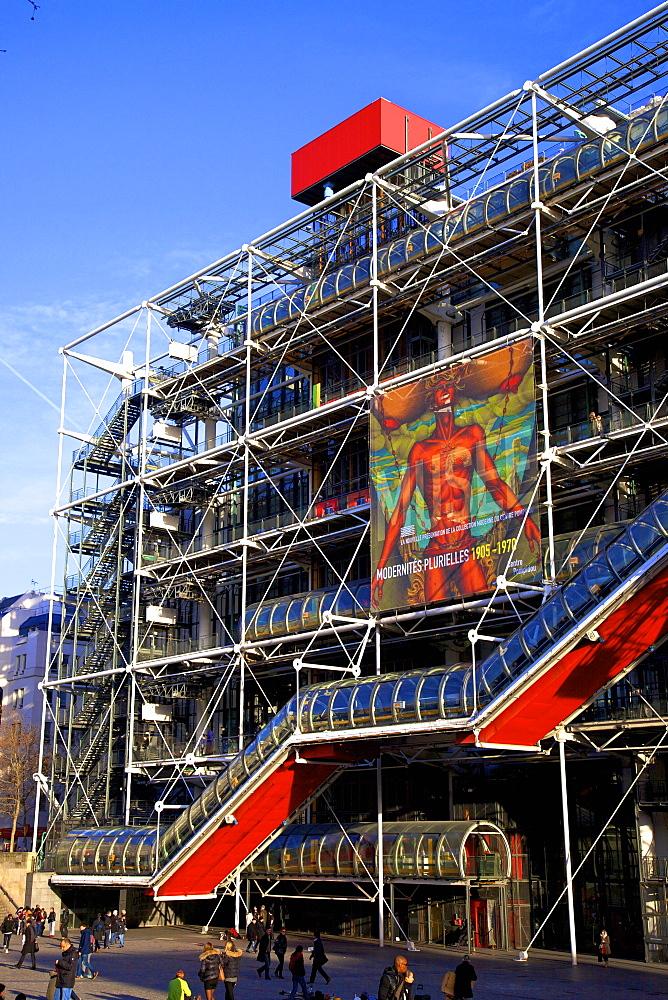 Pompidou Centre, Beaubourg, Paris, France, Europe