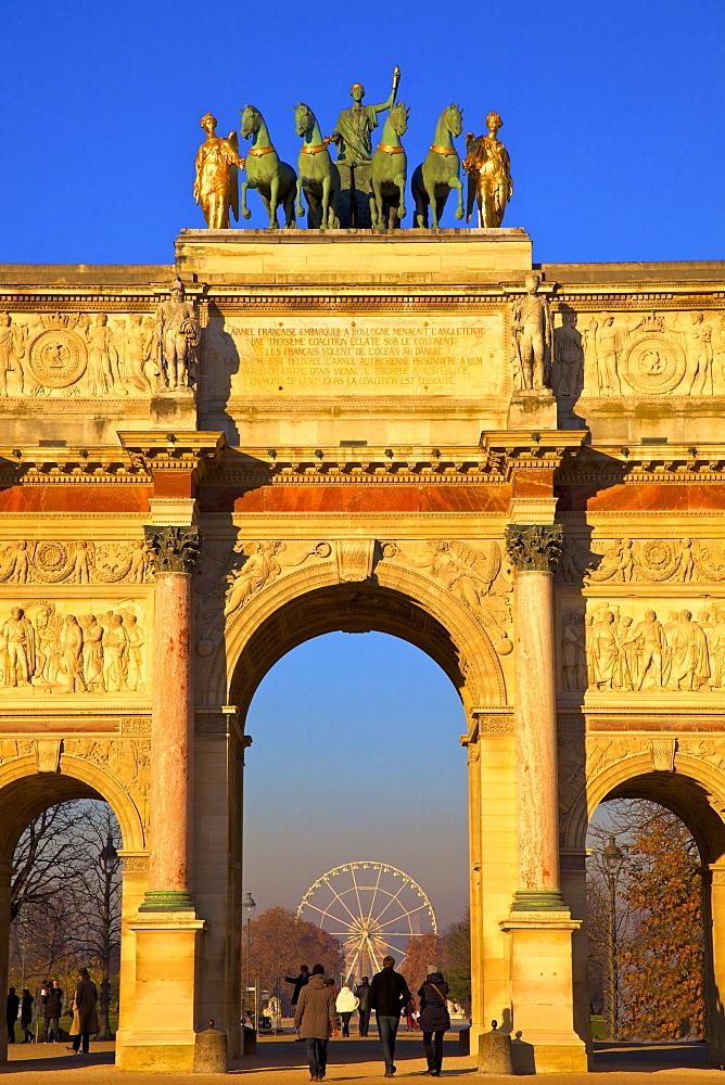 Arc de Triomphe du Carrousel, Paris, France, Europe