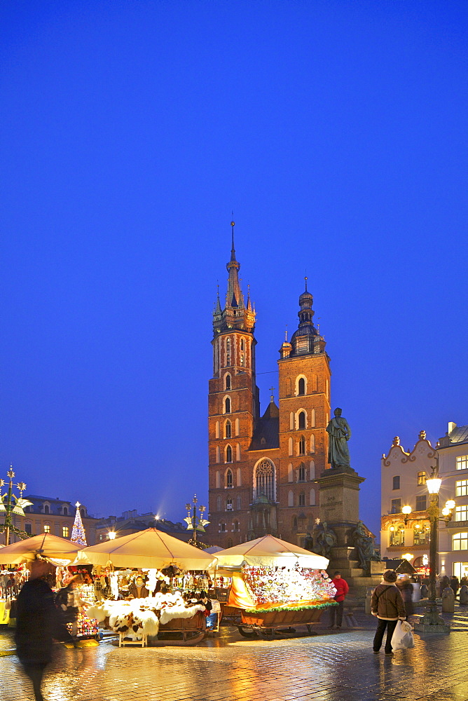 Christmas Market, Krakow, Poland, Europe