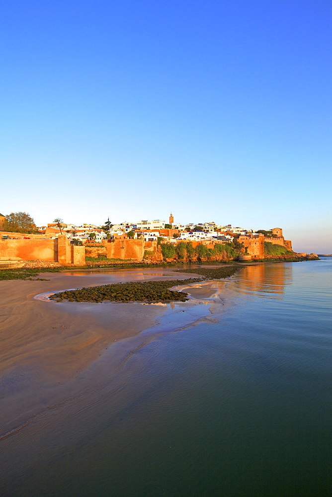 Oudaia Kasbah and coastline, Rabat, Morocco, North Africa, Africa