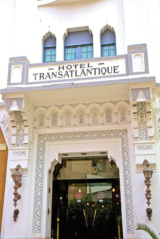 1922 Hotel Transatlantique with Art Deco architectural exterior, Casablanca, Morocco, North Africa, Africa - 1126-1344