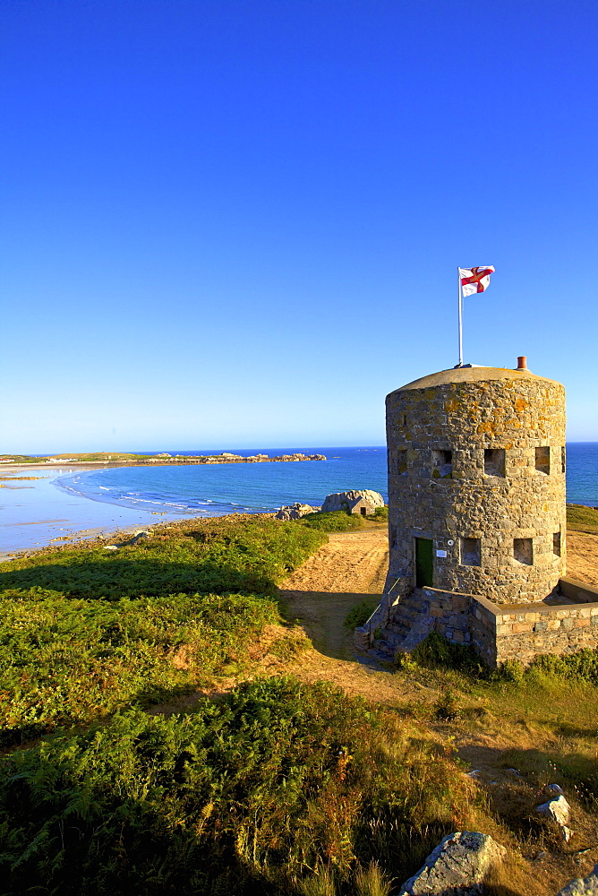 Martello Tower No 5, L'Ancresse Bay, Guernsey, Channel Islands, United Kingdom, Europe