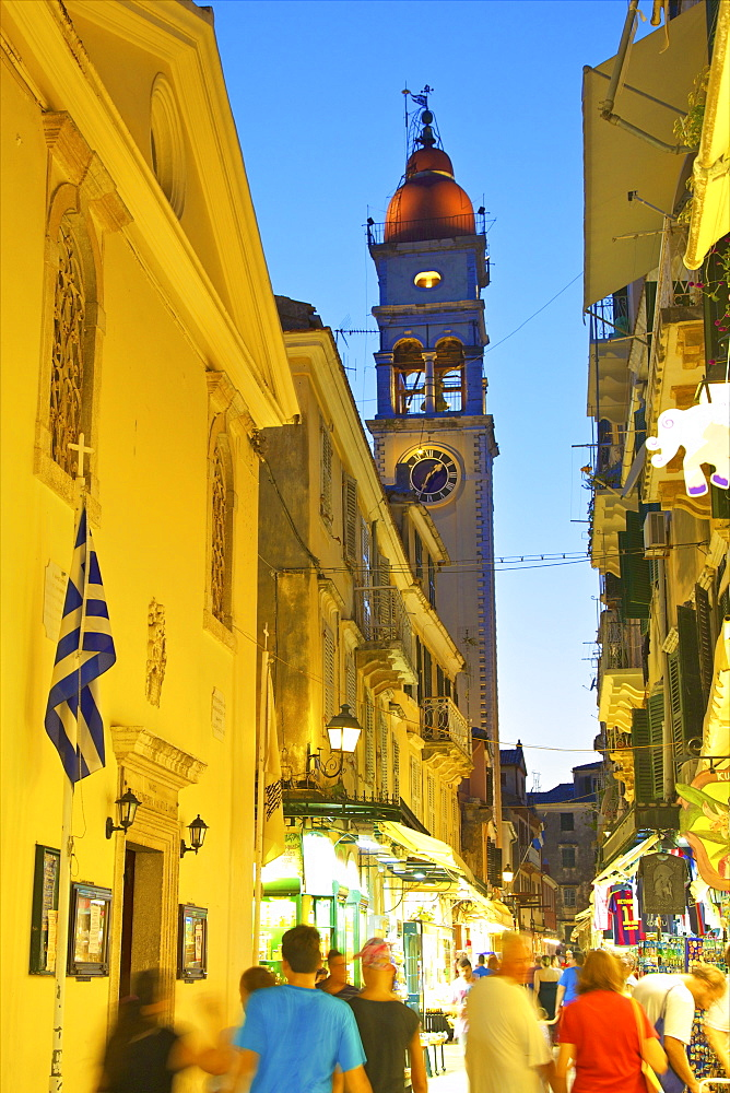 Saint Spyridon Church, Corfu Old Town, Corfu, The Ionian Islands, Greek Islands, Greece, Europe