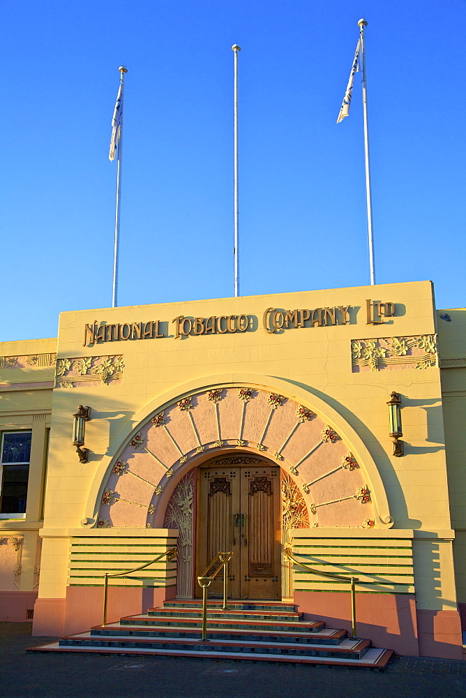 Art Deco National Tobacco Company Building, Ahuriri, Napier, Hawkes Bay, New Zealand, South West Pacific Ocean - 1126-1615