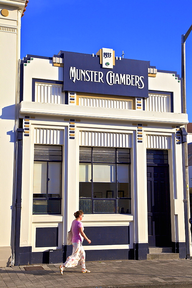 Munster Chambers Art Deco Building, Napier, Hawkes Bay, North Island, New Zealand, Pacific - 1126-1616