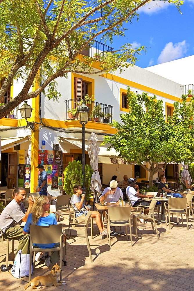 Cafe, Santa Gertrudis de Fruitera, Ibiza, Balearic Islands, Spain, Mediterranean, Europe