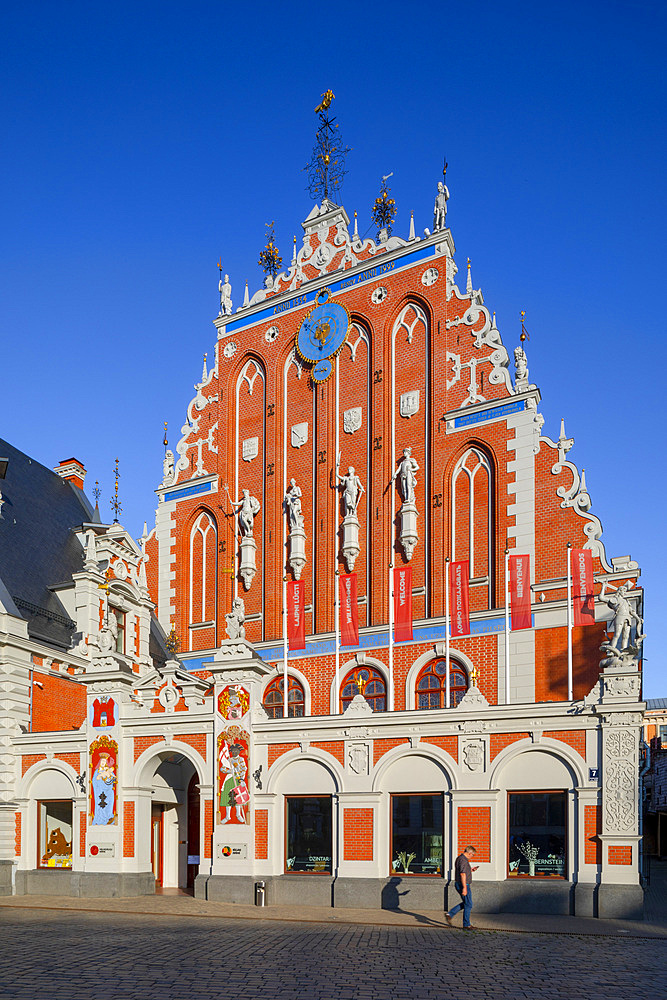 House of Blackheads and Schwab House, Town Hall Square, Old Town, UNESCO World Heritage Site, Riga, Latvia, Europe