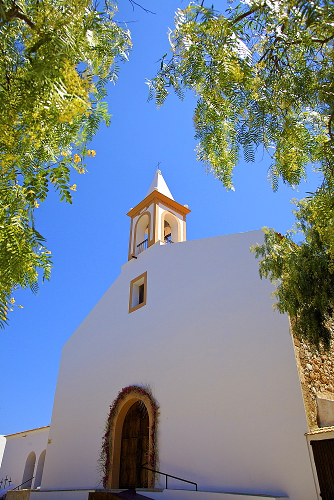 Church, Sant Joan De Labritja,  Ibiza, Spain, Europe