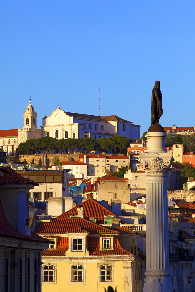 View of the Igreja da Graca Church in the Alfama district, Lisbon, Portugal, South West Europe