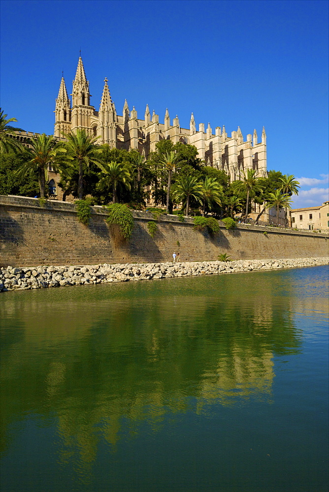 The Cathedral of Santa Maria of Palma, Palma, Mallorca, Spain, Europe