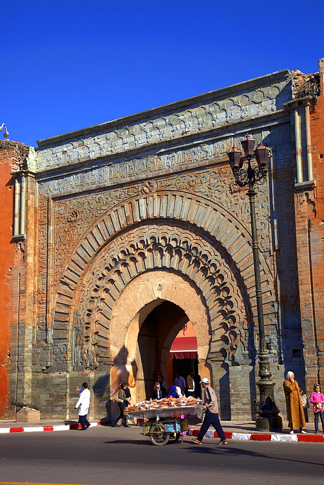 Bab Agnaou, UNESCO World Heritage Site, Marrakech, Morocco, North Africa, Africa