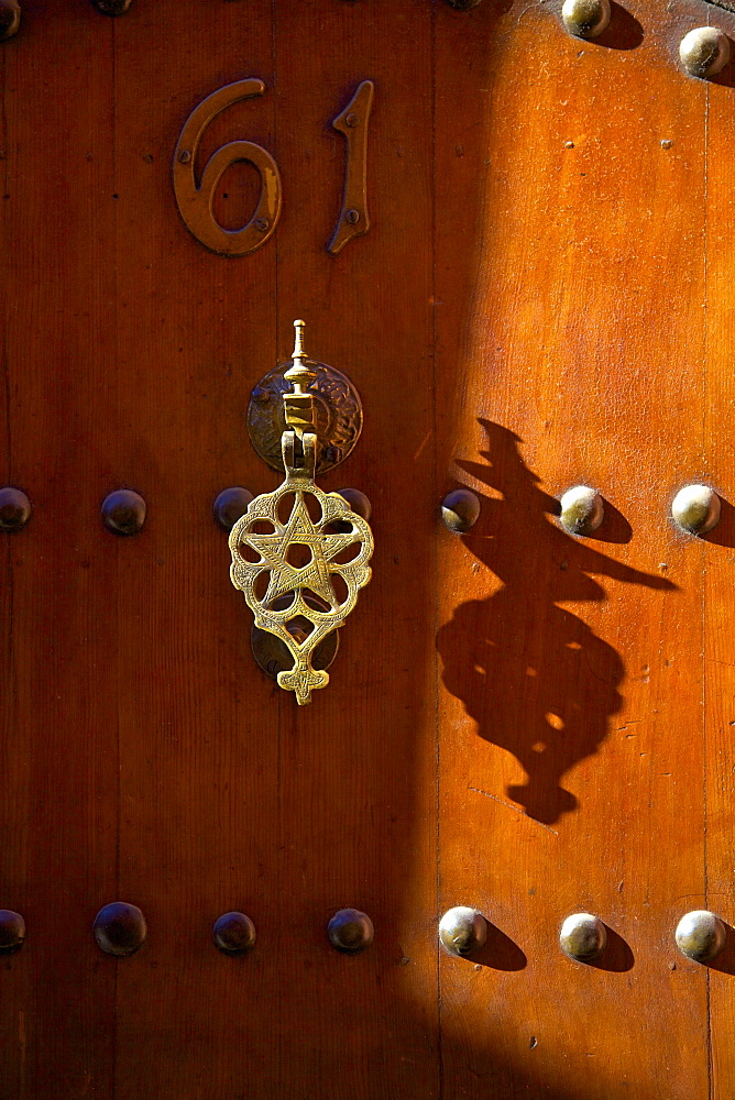 Traditional door, Marrakech, Morocco, North Africa, Africa