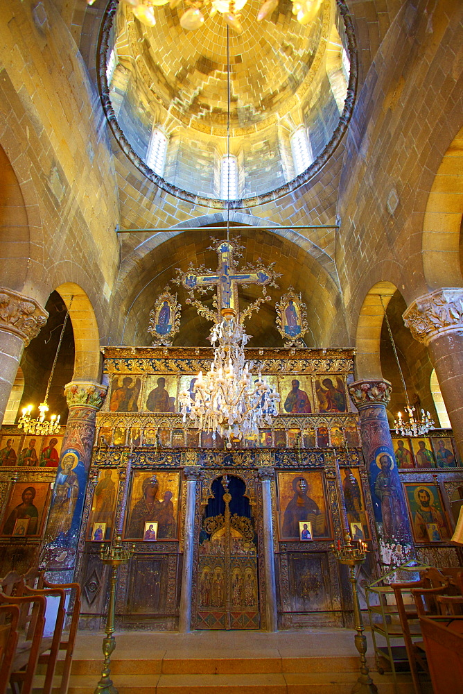 Interior of St. Mamas Monastery, Guzelyurt, North Cyprus, Cyprus, Europe