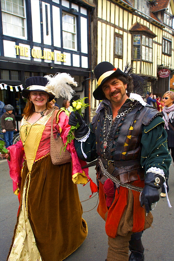 Shakespeare's Annual Birthday Parade, Stratford upon Avon, Warwickshire, England, United Kingdom, Europe