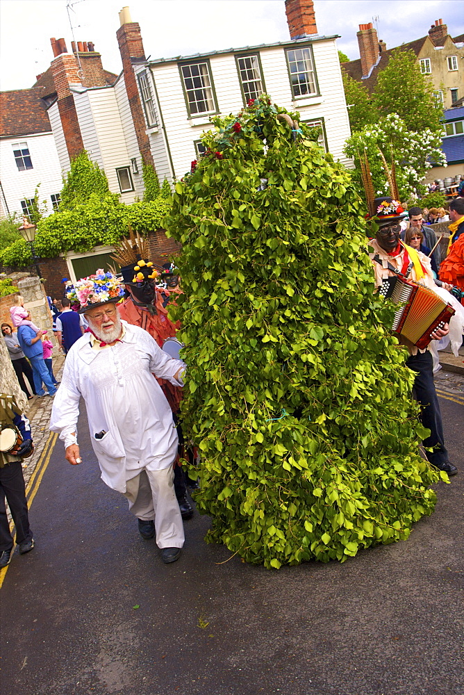 Jack In The Green, Sweep's Festival, Rochester, Kent, England, United Kingdom, Europe