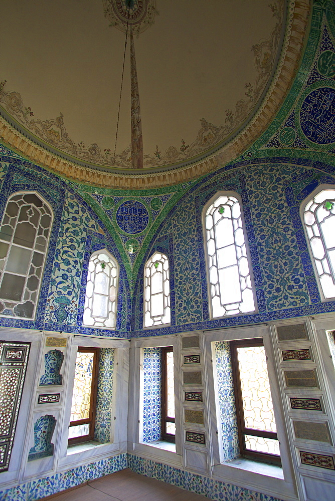 Privy Chamber of Sultan Ahmed 1, Topkapi Harem, Topkapi Palace, UNESCO World Heritage Site, Istanbul, Turkey, Europe