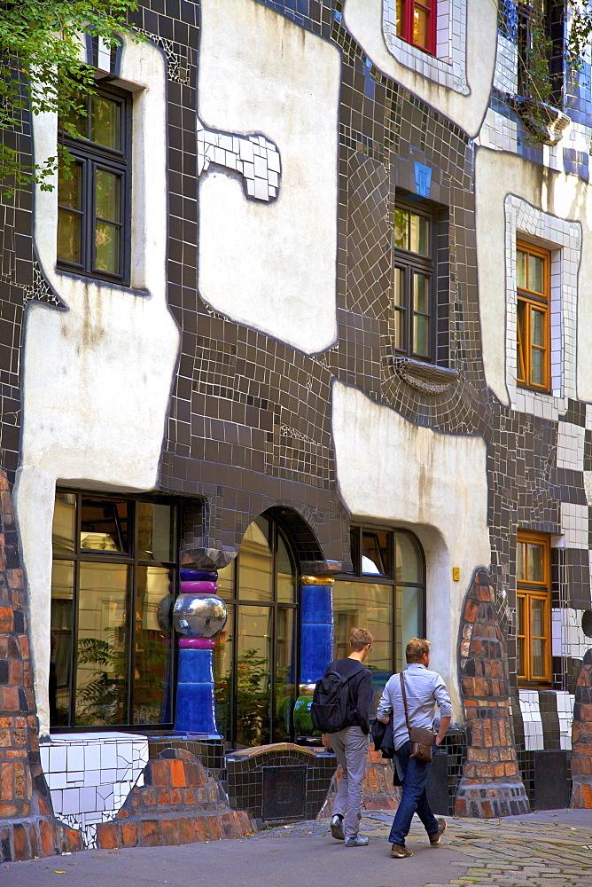 Exterior Kunsthaus Wien Hundertwasser Museum, Vienna, Austria, Central Europe
