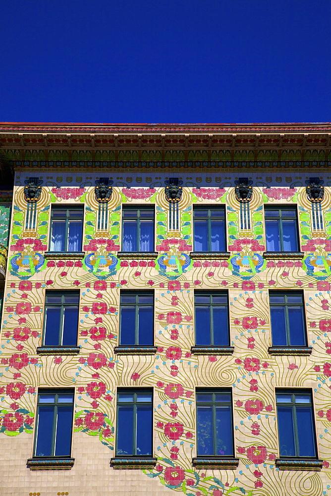 Otto Wagner's Art Nouveau Apartments, Majolica House, Vienna, Austria, Europe