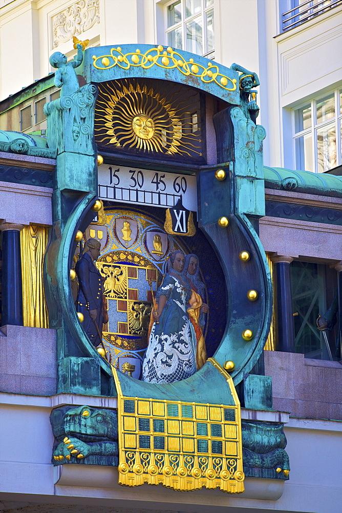 Anker Clock, Vienna, Austria, Europe