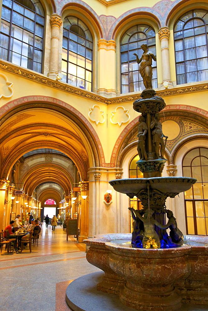 Fountain in Freyung Passage, Vienna, Austria, Europe