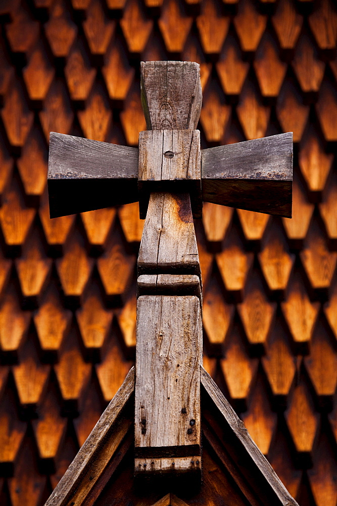 Cross, Wooden Church, Bygdoy, Oslo, Norway / crucifix