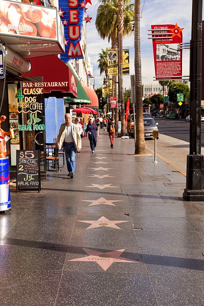 Walk of Fame, Hollywood Boulevard, Hollywood, Los Angeles, California, USA / L.A.