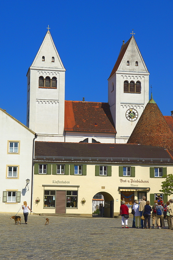 Steingaden Abbey, abbey church, St John the Baptist, Steingaden, Upper Bavaria, Bavaria, Germany