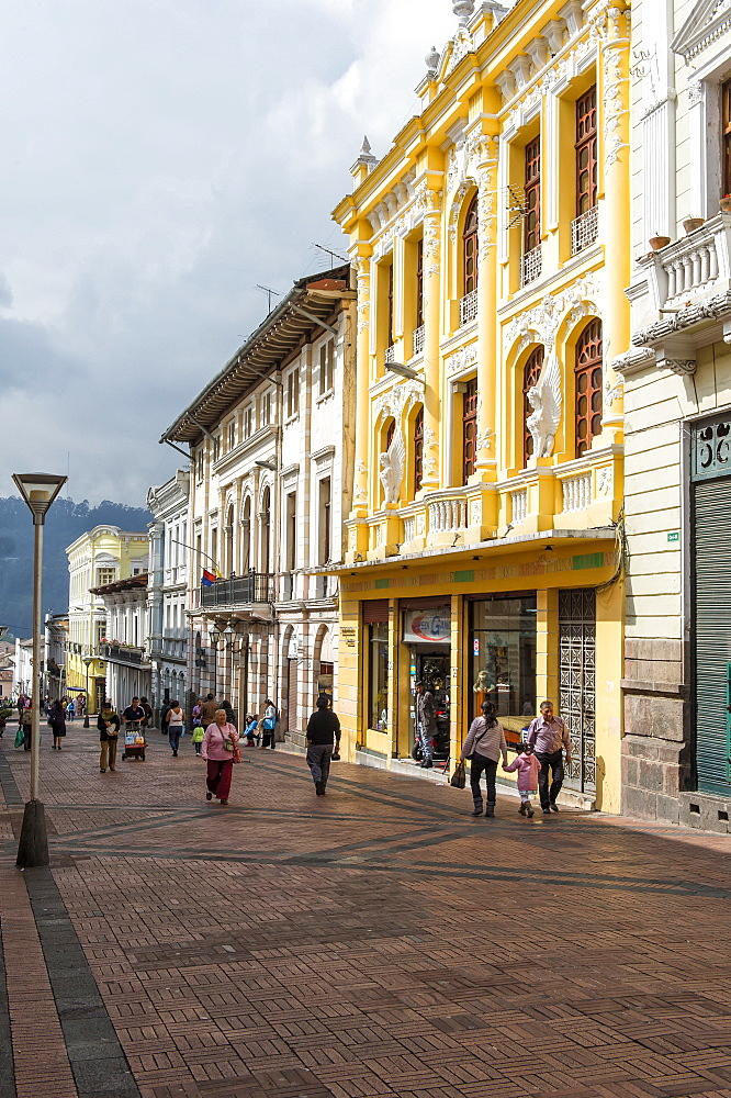 Algodon street, Quito Historical center, Pichincha Province, Ecuador, Unesco World Heritage Site