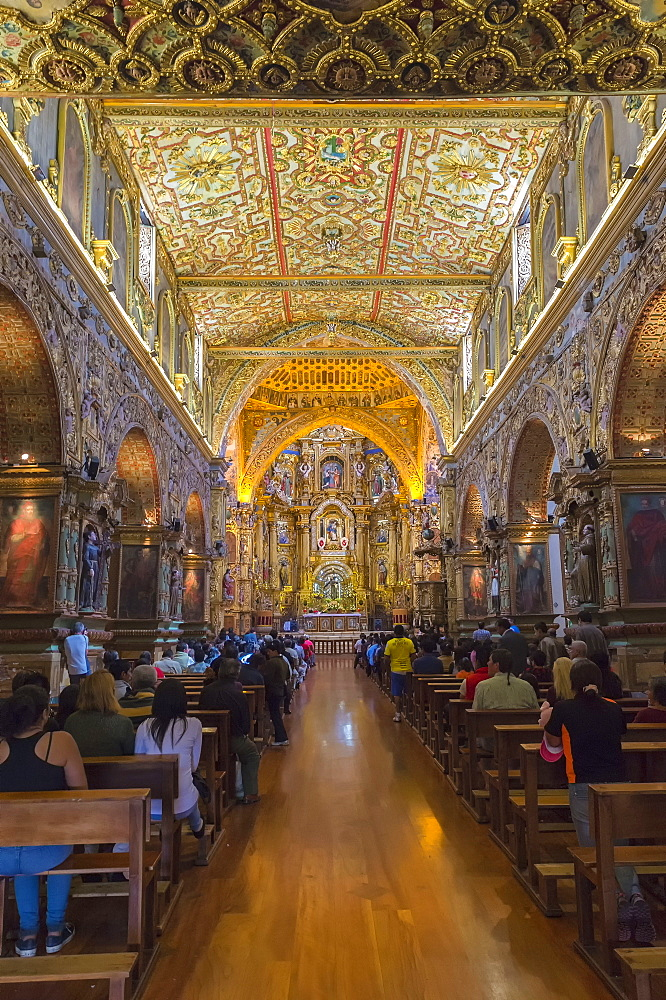 San Francisco Church and Convent, Interior, Quito, Pichincha Province, Ecuador, Unesco World Heritage Site