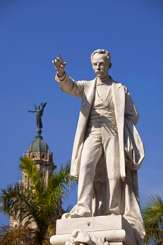 Jose Marti monument on the central square Parque Central in Havana, Cuba, Caribbean / Havanna