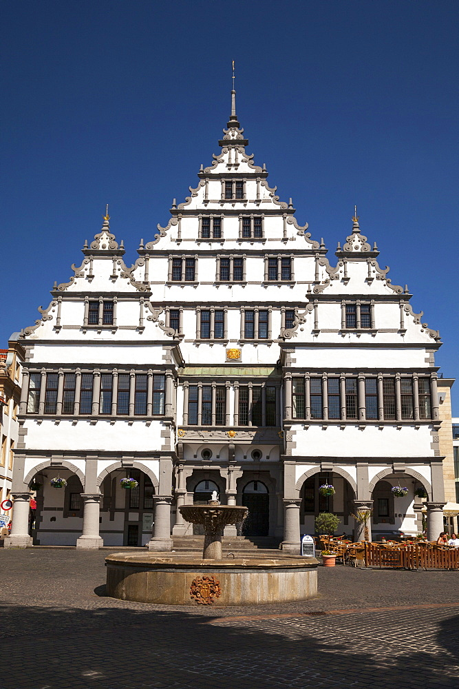 Town hall, town hall square, Paderborn, North Rhine-Westphalia, Germany