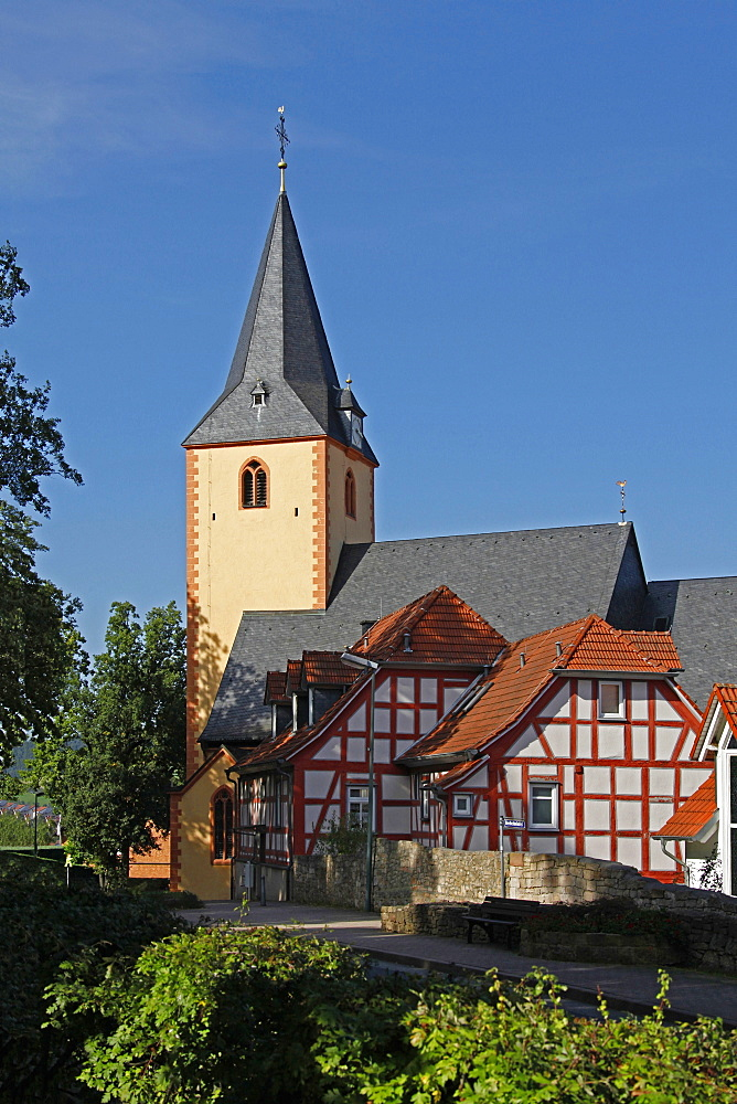 Catholic Church St Martin, built in 14th century, Bad Orb, Main-Kinzig district, Hesse, Germany