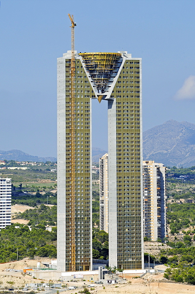 Intempo skyscraper, Benidorm Edificio Intempo, Benidorm, Province of Alicante, Spain, Europe