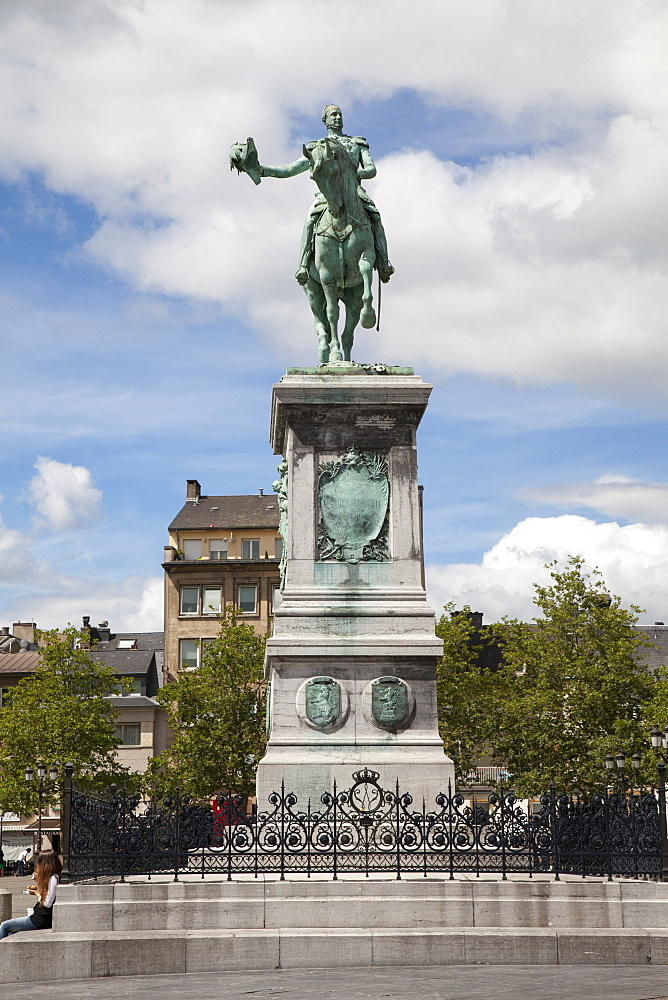 Equestrian statue of Wilhelm II., Place Guillaume II square, Luxembourg