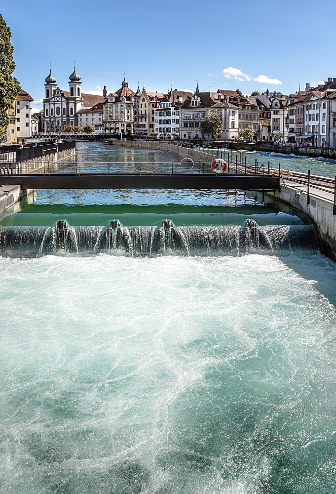 Needle dam, Reuss River, Lucerne, Switzerland