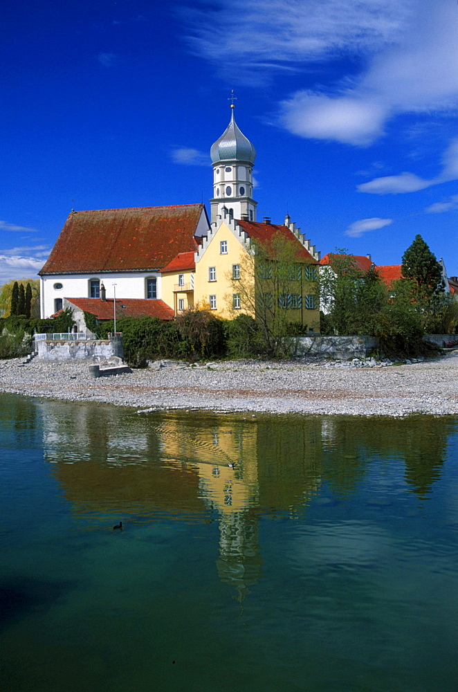 Church St. Georg, Lake Constance, Wasserburg, Bavaria, Germany