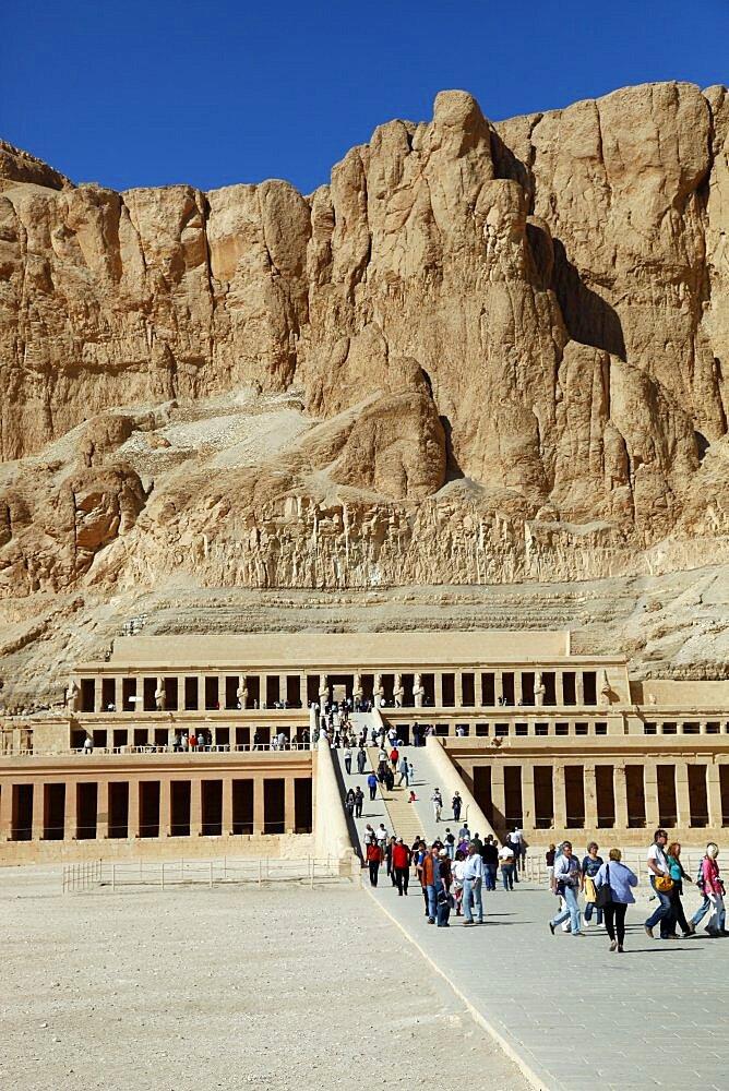 Hatshepsut Temple, Deir el-Bahri, UNESCO World Heritage Site, Egypt, North Africa, Africa