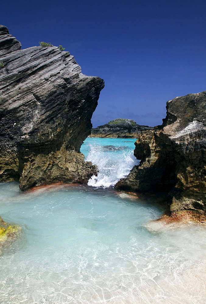 Cove at Horseshoe Bay, Bermuda Islands, North Atlantic Ocean, Atlantic