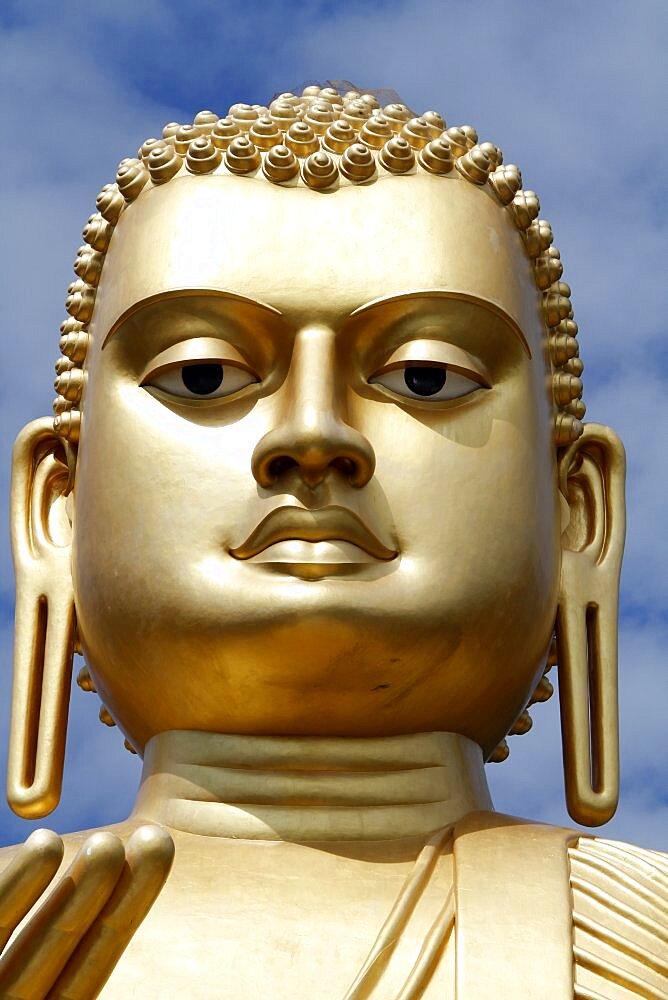 Big Buddha face, Dambulla, Sri Lanka, Asia