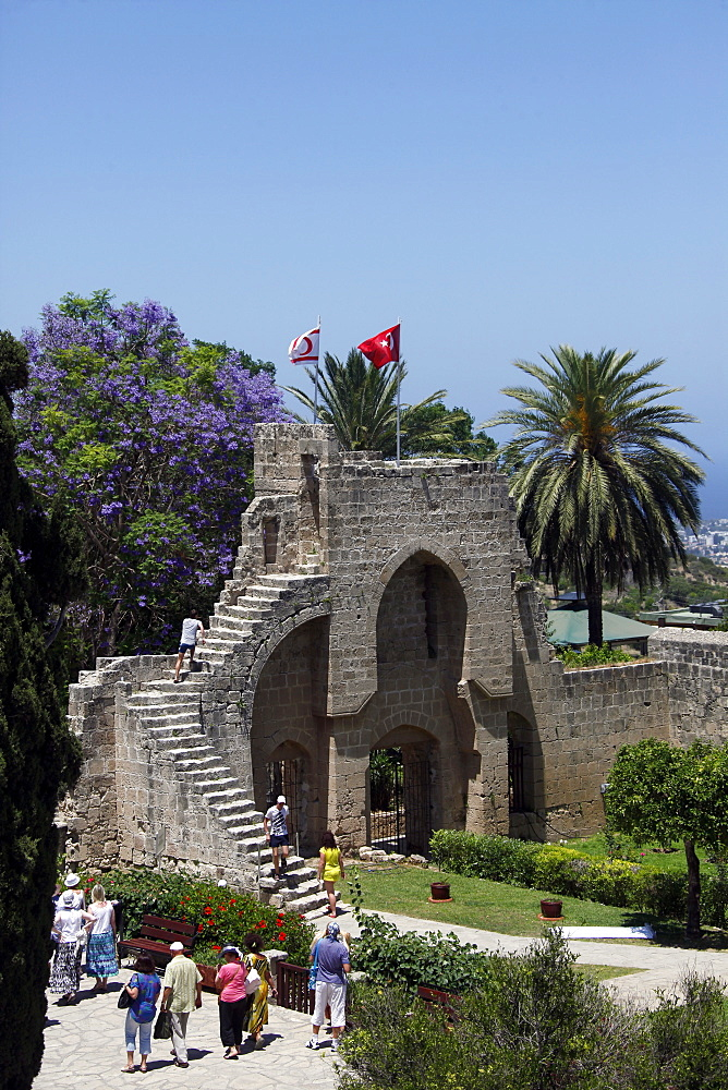 Bellapais Abbey steps, Monastery, Kyrenia, Northern Cyprus, Europe