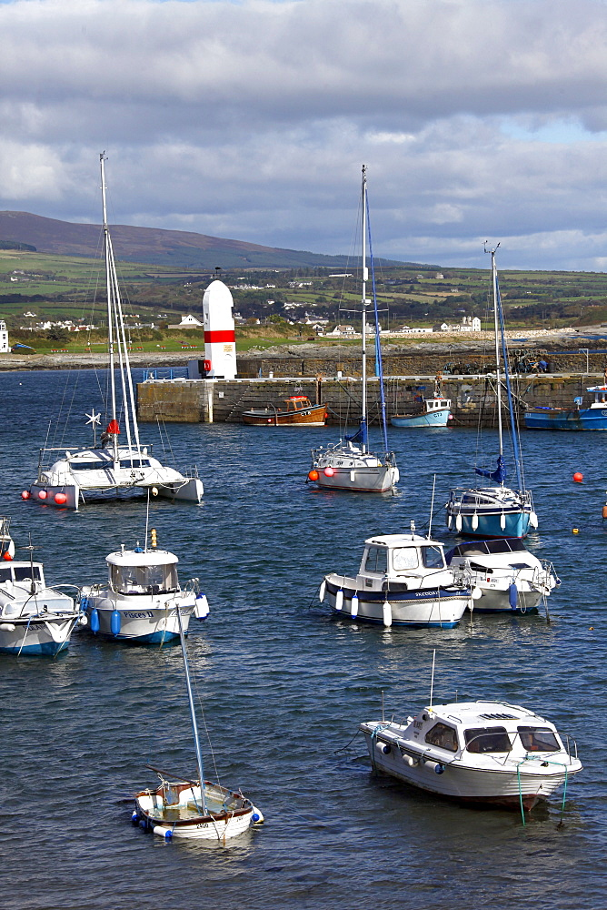 Fishing and pleasure boats in Harbour, Isle of Man, British Isles, Europe
