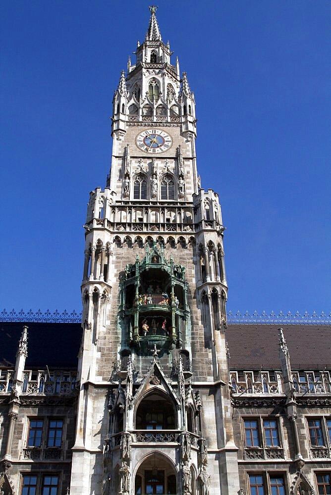 The Glockenspiel, Munich, Bavaria, Germany, Europe