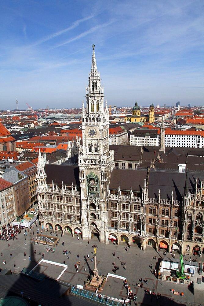 New City Hall (Neues Rathaus), Munich, Bavaria, Germany, Europe