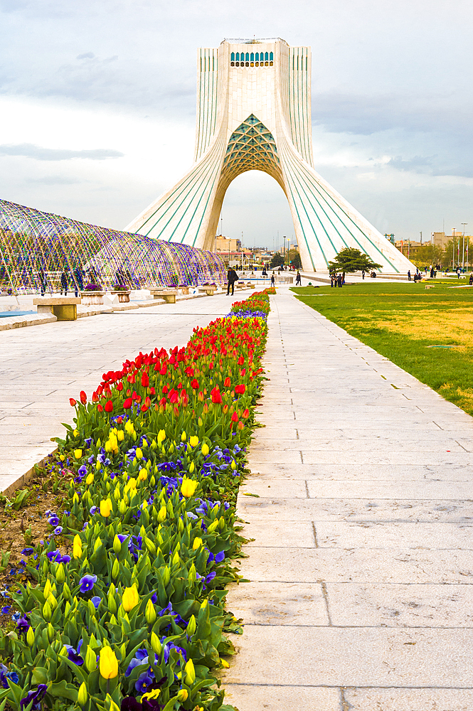 Azadi Tower (Freedom Monument) formerly known as Shahyad Tower and cultural complex, Tehran, Islamic Republic of Iran, Middle East